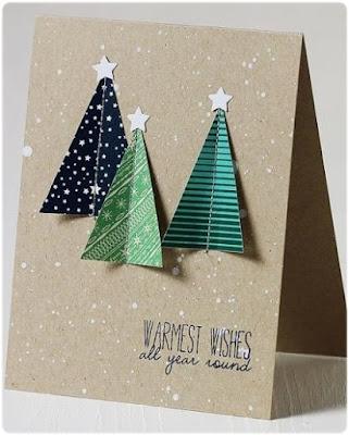 tarjeta navidad árboles
