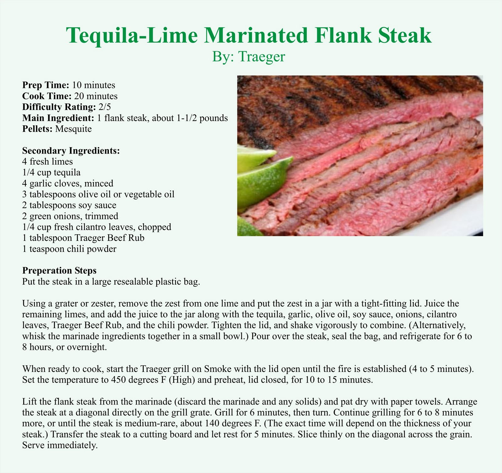Tequila-Lime Marinated Flank Steak