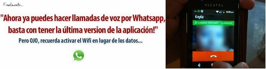 Como llamar por Whatsapp
