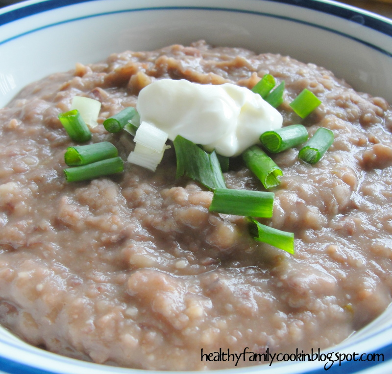 Healthy Family Cookin': Pressure Cooker Refried Beans