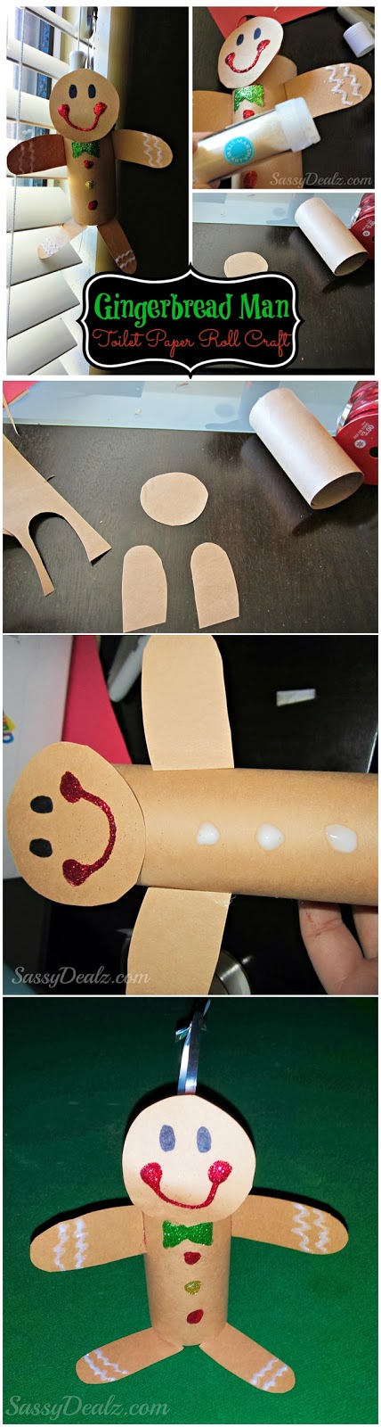 Gingerbread Man Toilet Paper Roll Craft for Kids