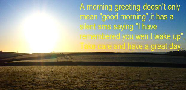 Contoh Ucapan Selamat Pagi Dalam Bahasa Inggris 6 untuk pacar