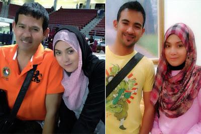 Shilla bersama ayah dan bekas kekasihnya