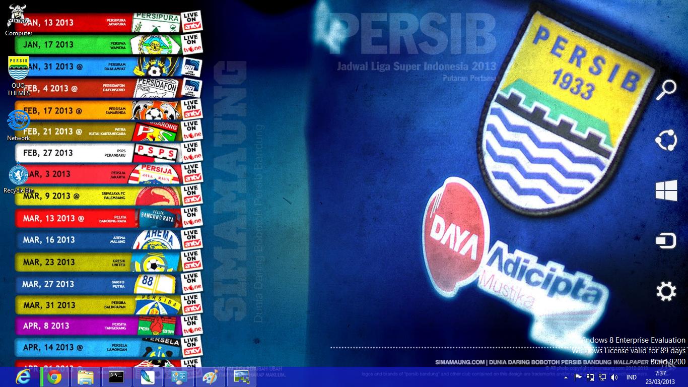 Tema Persib Bandung 2013 Untuk Windows 7 Dan 8 | Ouo Themes