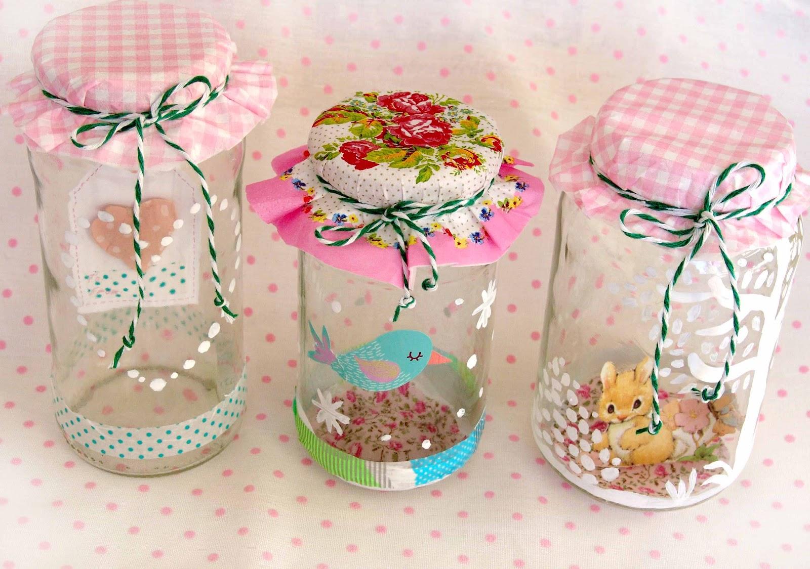 Lalibelula tarros de cristal decorados for Ideas con frascos de vidrio