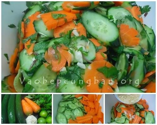 Cách làm dưa góp dưa chuột cà rốt 1