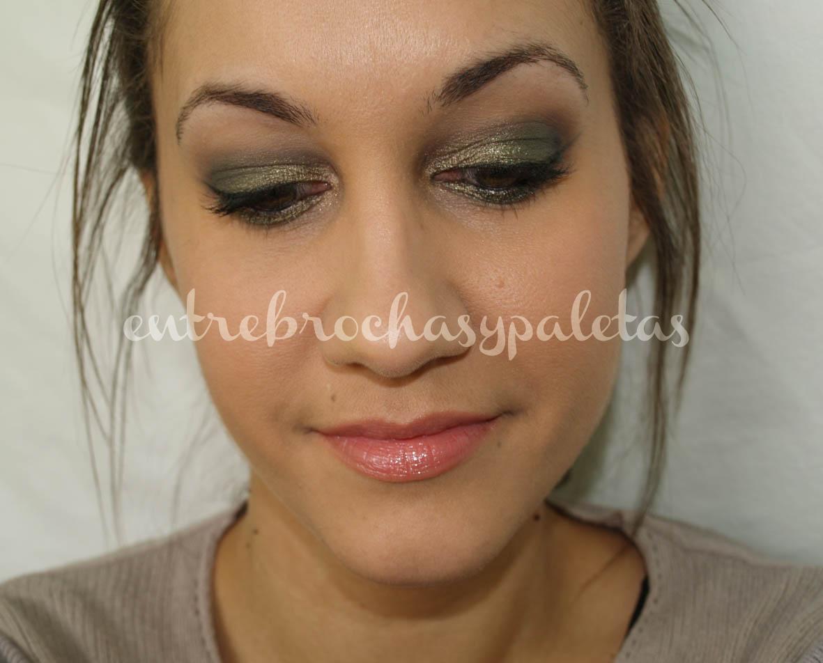 maquillaje en verdes