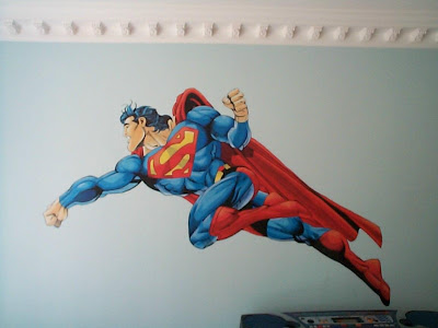 Super Hero Mural Design Picture