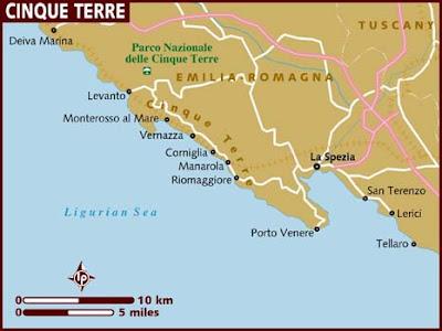 Mappa Politica delle Cinque Terre