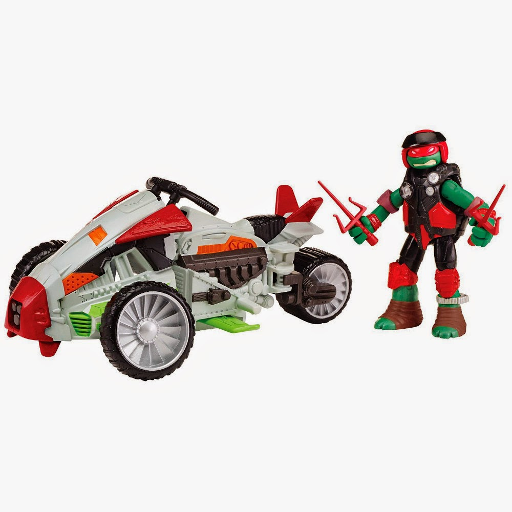 JUGUETES - LAS TORTUGAS NINJA : Mutations  Tri-Flyer | Vehículo + Figura - Muñeco Raphael | 2015 Turtles Multi-Mode Mutating Machine Teenage Mutant Ninja Turtles | TMNT | Nickelodeon Producto Oficial 2015 | Playmates | A partir de 4 años