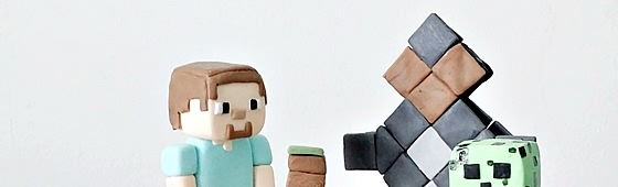 Header picture of Minecraft cake