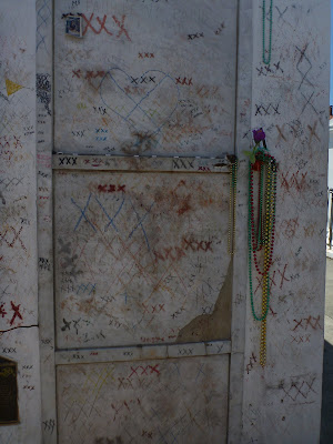 Nearby Tombs – Missing Bricks Used to Etch on X on Marie Laveau's Tomb?