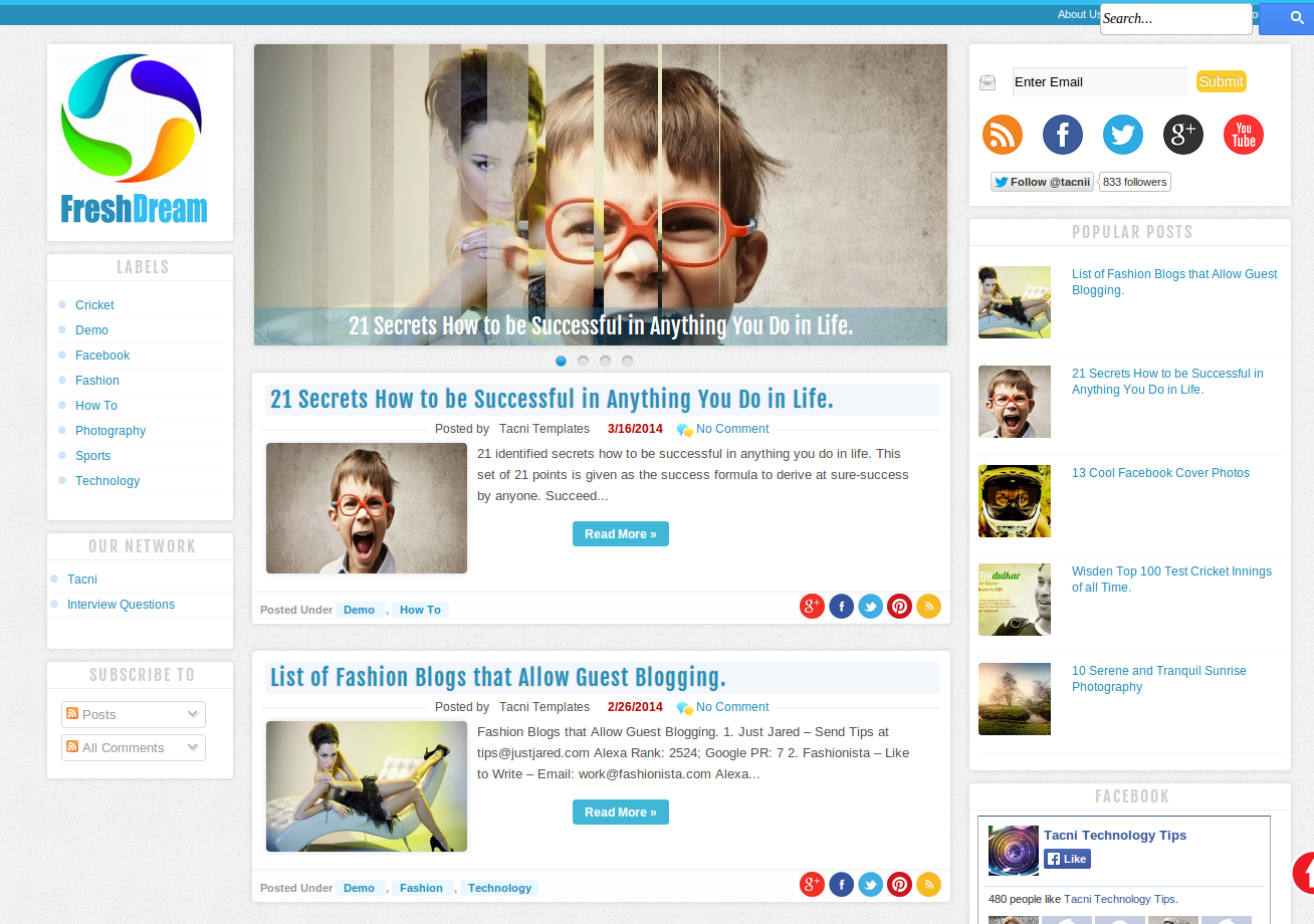 FreshDream Blogger Template