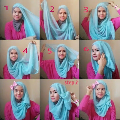 Tutorial Hijab Paris Yang Trendy