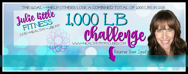 New Year Health Resolutions, 1,000 lb Challenge, Julie Little Fitness, www.HealthyFitFocused.com