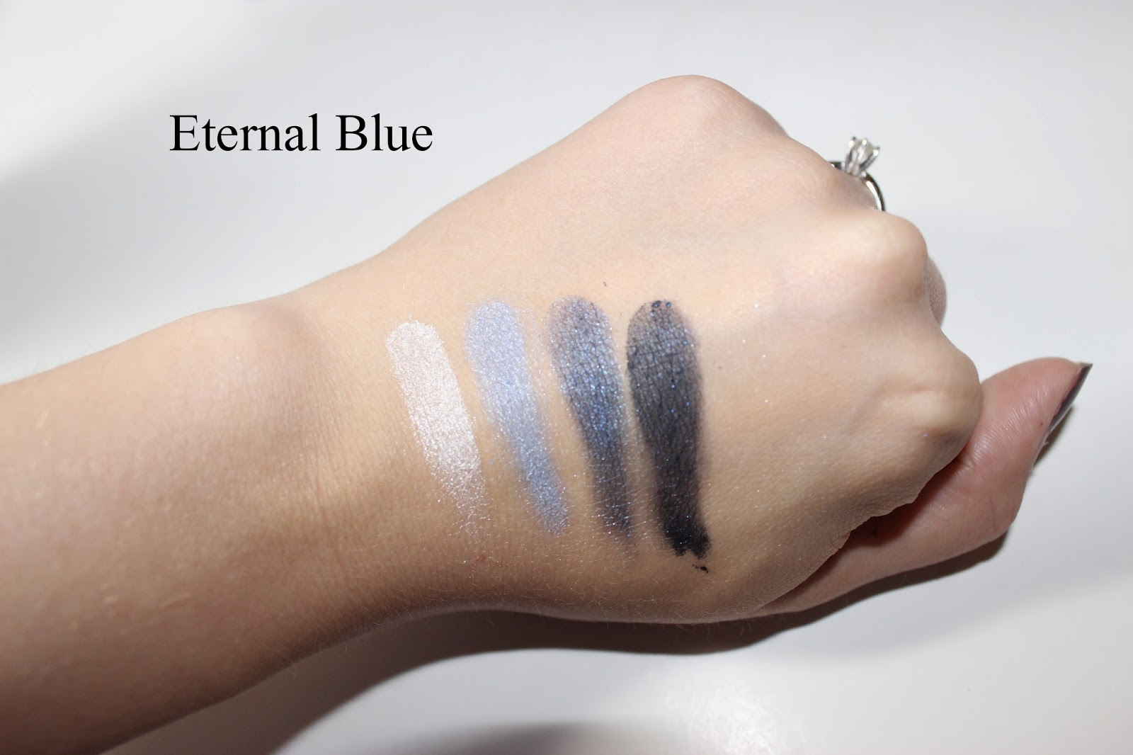 L'Oréal Colour Riche Wet Eyeshadow in Eternal Blue Swatches