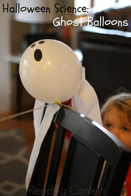 Ghost balloons: a fun Halloween science activity