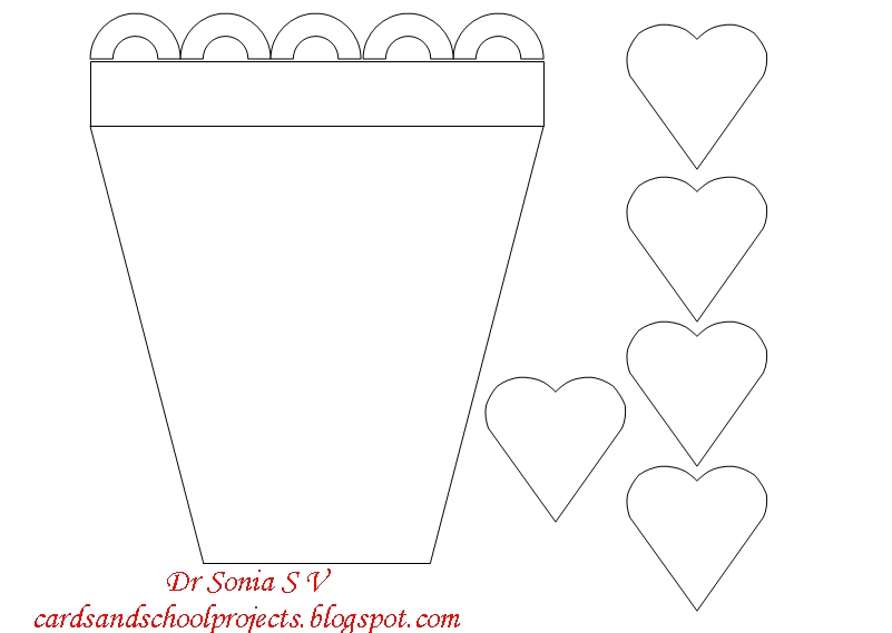 cards crafts kids projects flower pot card and tutorial
