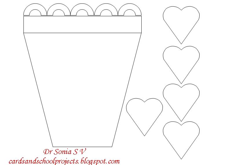 Flower Pot Writing Template Flower Pot Card Template White