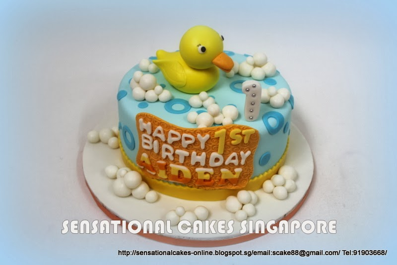 Baby Shower Singapore ~ The sensational cakes rubber ducky shower theme cake