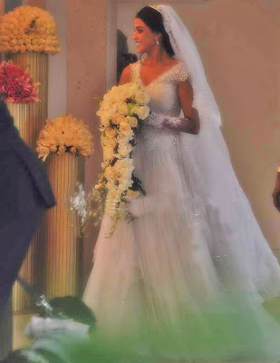 genelia dsouza's white wedding gown pictures and photos
