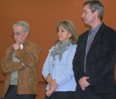 D'esquerra a dreta: Joan Prim, Alcaldessa Montserrat Mundi i Antoni Rebolleda 1r Tinent d'Alcaldia.