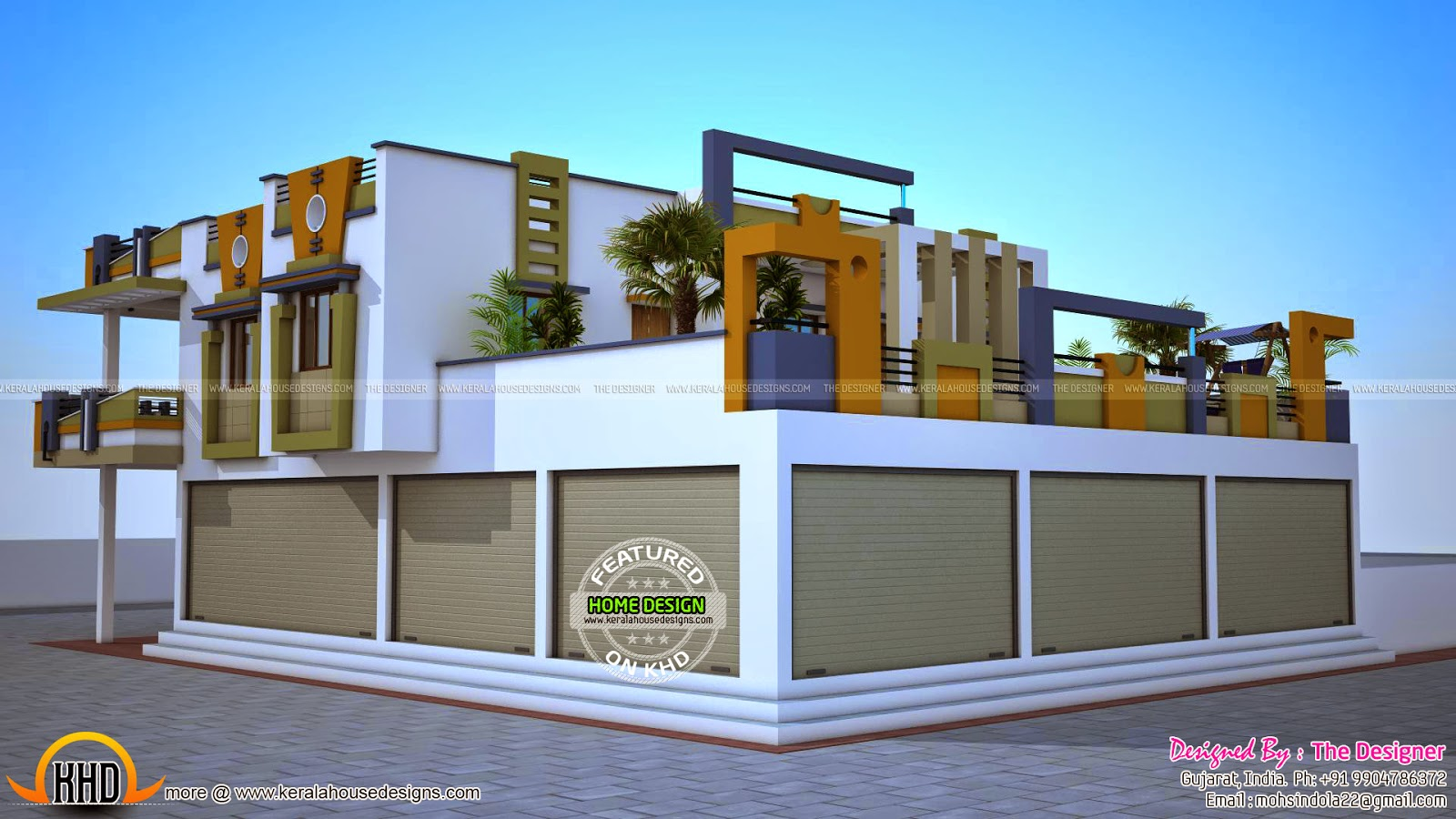 House with shop plans Kerala home design and floor Home