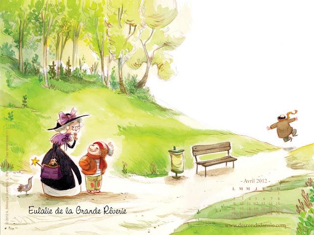 Fond d'écran avril 2012 n°1 - Eulalie de la Grande Rêverie de Amélie Billon-Le Guennec et Line Parmentier (1600x1200)