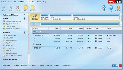 Minitool Partition Wizard Professional 9.1 1
