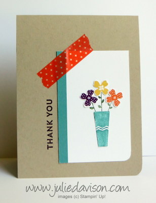 Stampin' Up! Pictogram Punches Thank You Card