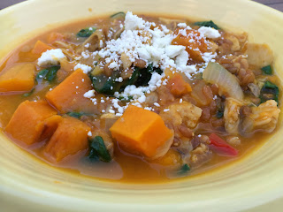 Chicken and Butternut Squash Stew with Farro