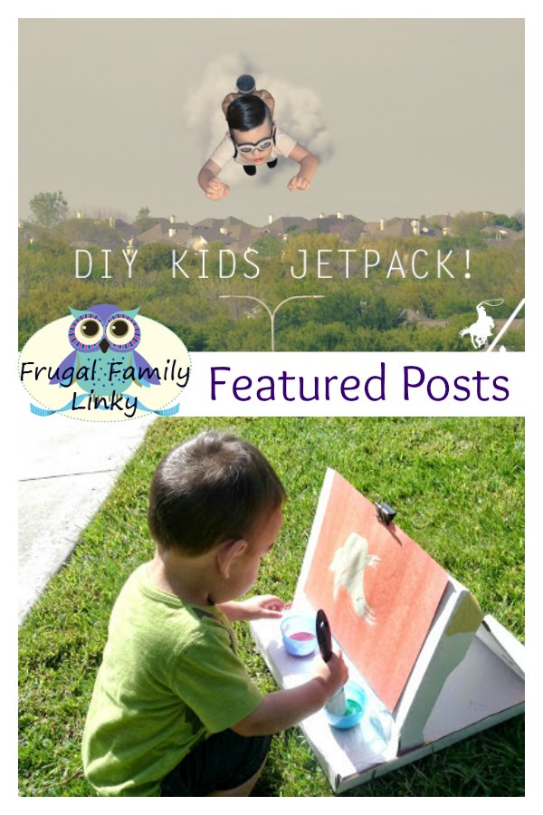 Frugal Family link party for April 9, 2015 featuring upcycled toys for kids and money saving ideas from bloggers around the world.