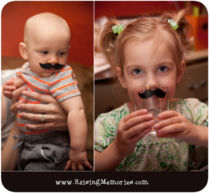 Attach vinyl mustaches to your party cups for a Moustache Party at www.RaisingMemories.com