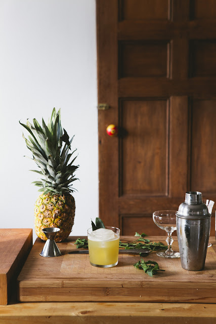 ananas,pineapple,cocktail,rhum,gimgembre