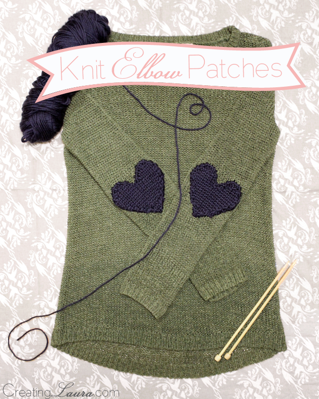 Heart Shaped Knitting Pattern : Creating Laura: Elbow Patch Knitting Pattern