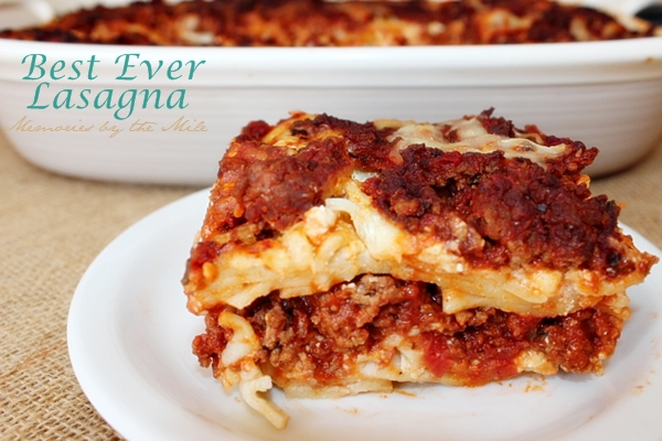my recipe for the best ever lasagna really is just that do you have a ...
