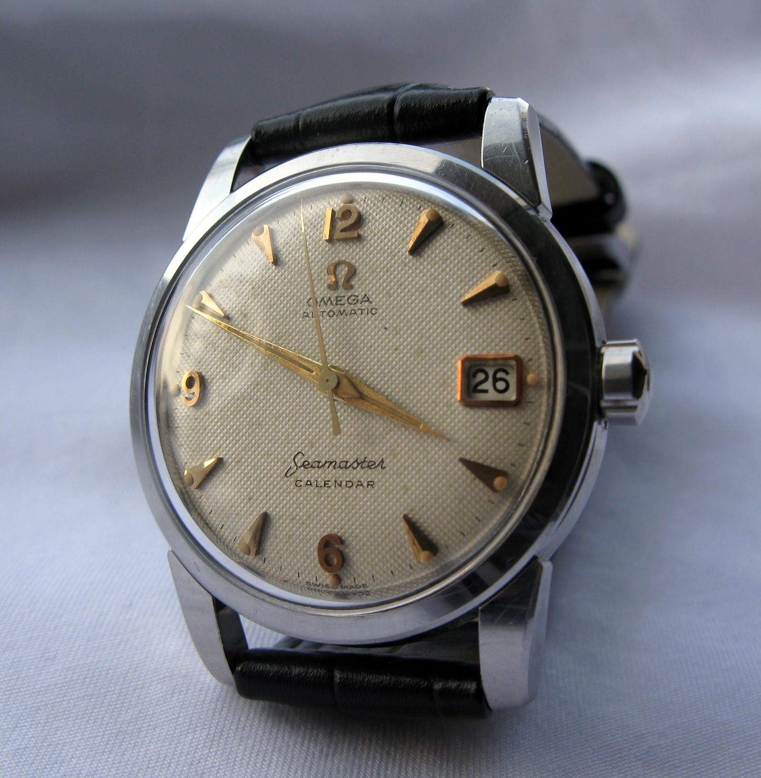Omega Seamaster Calendar Vintage : Andy b vintage watches omega seamaster calendar cal