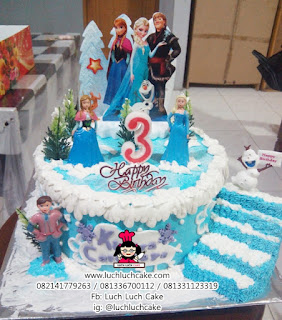 Frozen Birthday Cake Surabaya