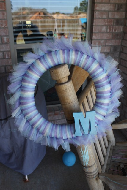 Tulle Wreath A Quasi Tutorial Getting Some Fun Out Of Life