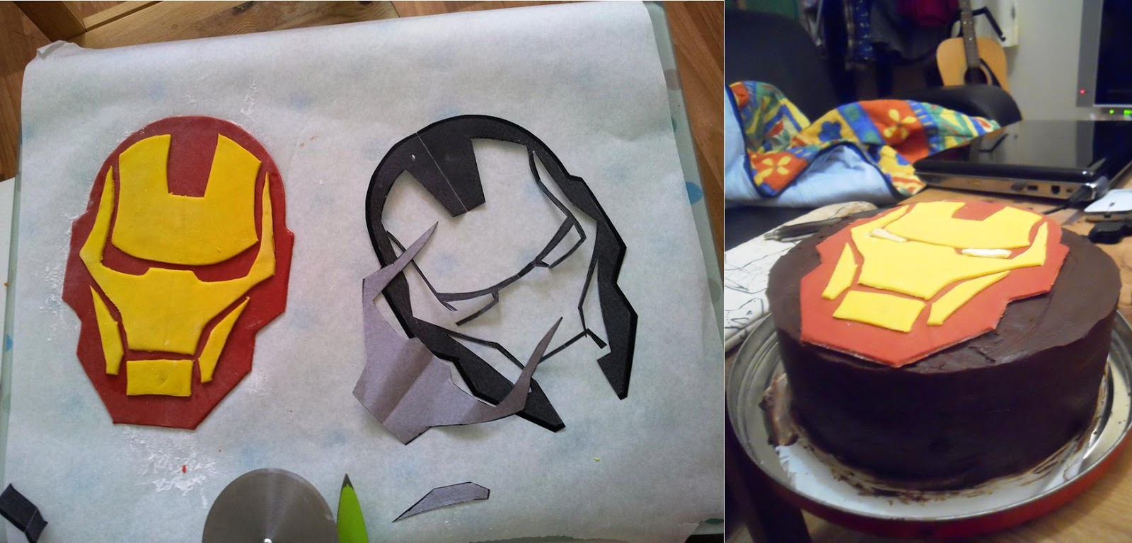 Iron Man Cake Template keywords and pictures