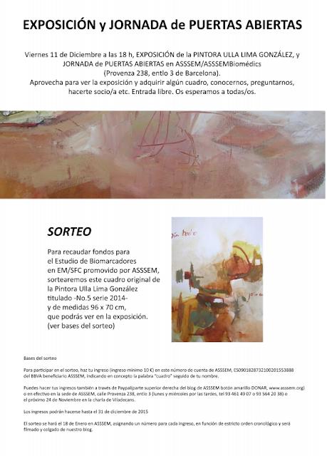 EXPOSICIÓN de CUADROS de la PINTORA y amiga ULLA LIMA GONZÁLEZ