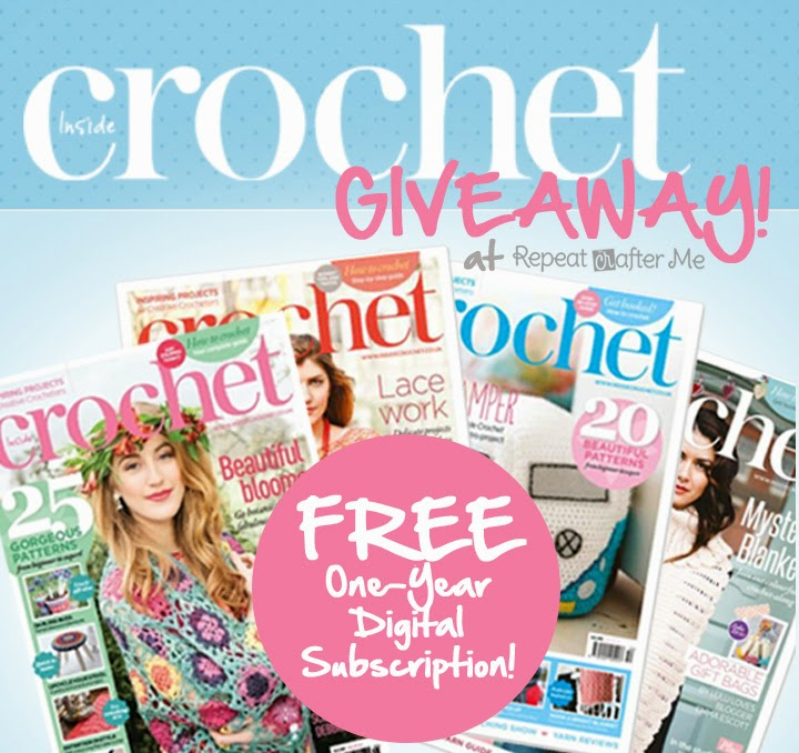 ... Crafter Me: Inside Crochet One-Year Digital Subscription GIVEAWAY
