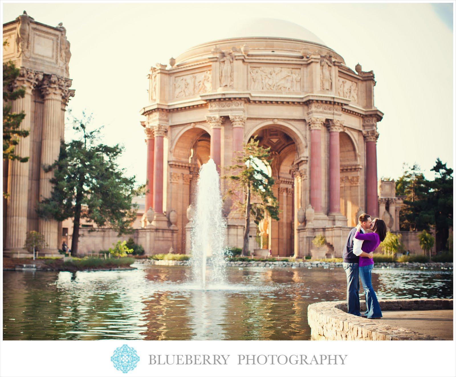 San Francisco gorgeous natural light palace fine arts engagement
