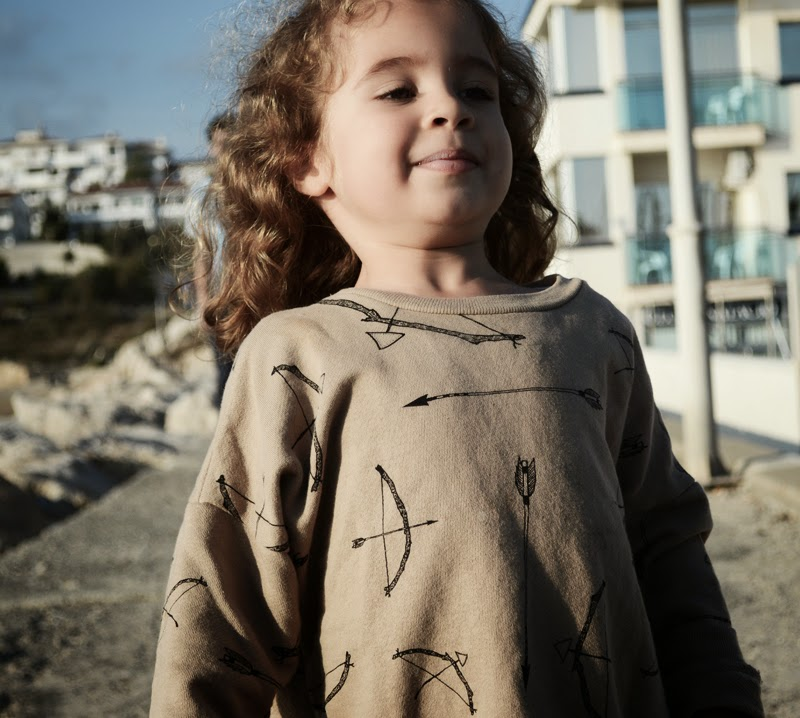 Beau LOves bow and arrow oversized top - Kids fashion
