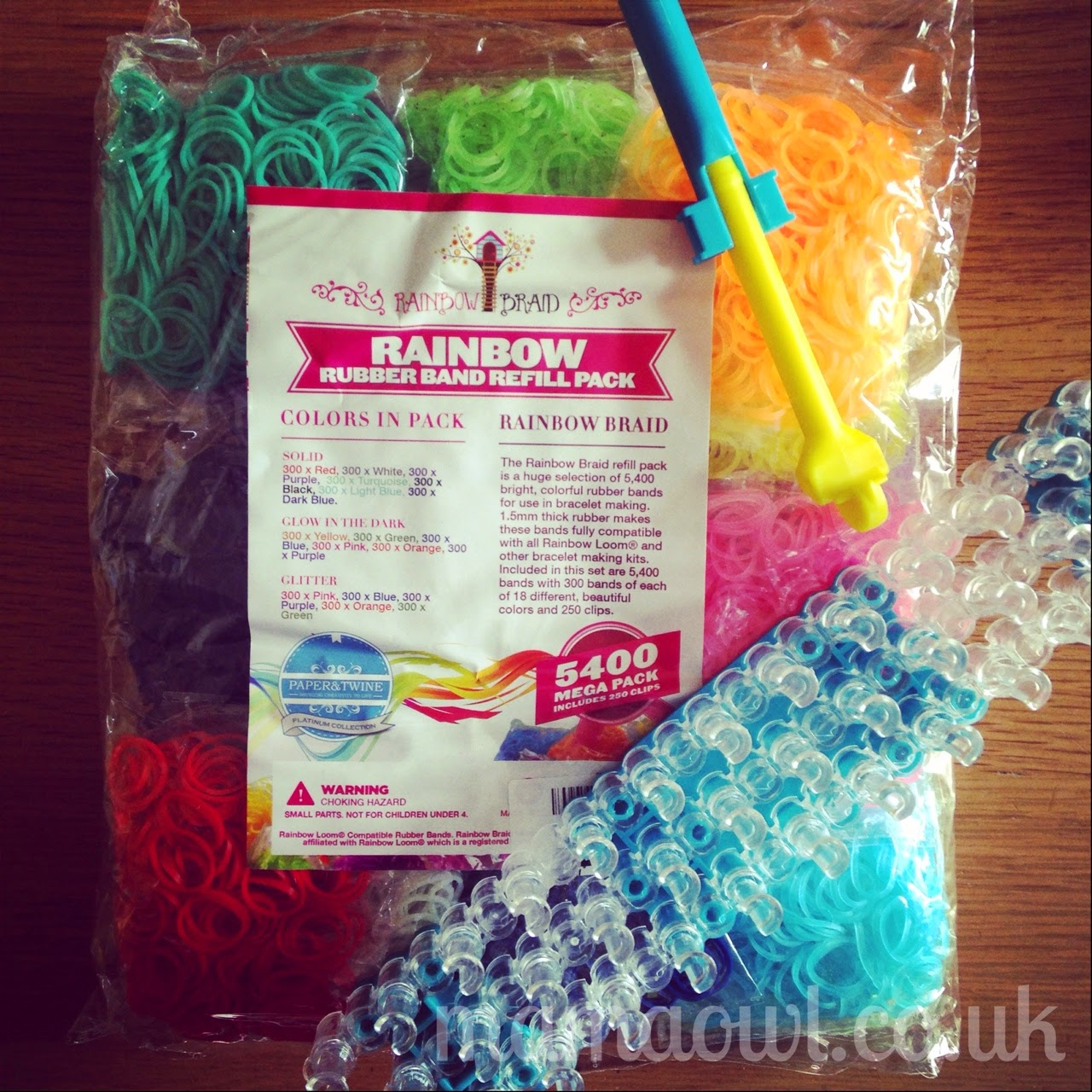 Rainbow Braid 5400 Refill Kit (Loom & Hook not included)