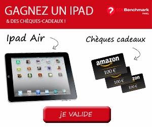 Jeu concours : Gagnez 1 iPad Air de 489 euros, 5 chèques-cadeaux de 100 euros
