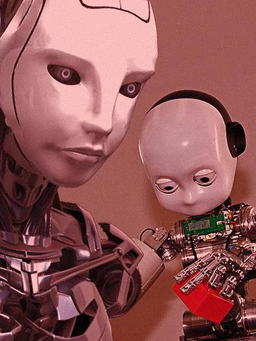 Et monster halvt menneske halvt robot