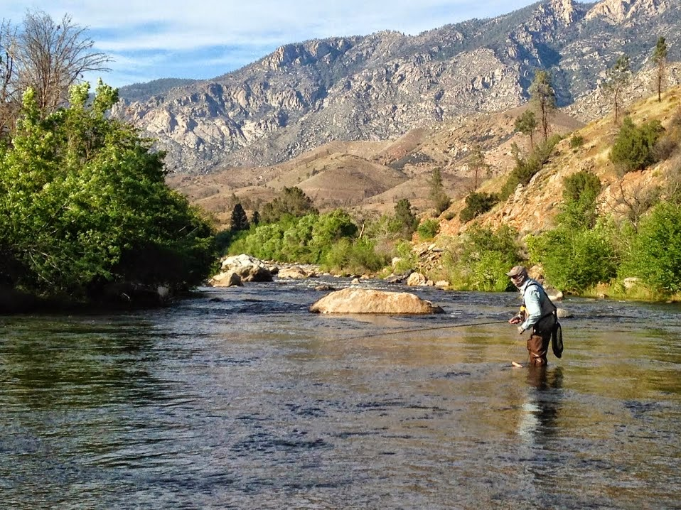 Life in motion for Kern river fishing