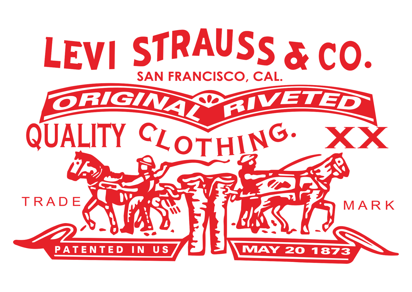 levi strauss and co logo vector clothing company format