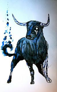 Buey Zodiaco Chino en Dibujo